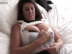 Big breasted British housewife getting highly naughty