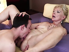 Horny mature slut fucking and sucking