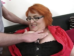 Huge jugged mature lady sucking and porking