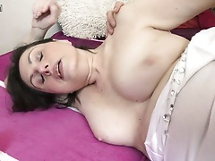Insatiable mature lady fucked by her toy dude