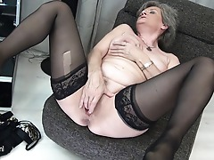 Horny mature slut playing all alone